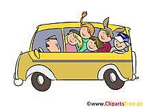 Ausflug in der Schule Clipart, Bild, Grafik