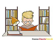 図書館のクリップアート