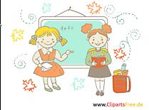 学校や授業のための画像 - 緑の黒板