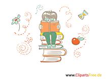 Bücher lesen - Bildmaterialien für Unterricht