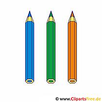 Buntstifte Clipart Bild kostenlos