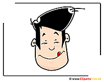 Cartoon gezicht - gratis cliparts