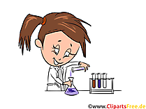 Chemielabor Clipart, Bild, Illustration