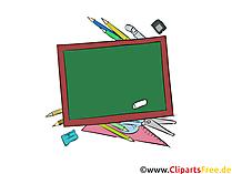Clip Art Schultafel in der Schule