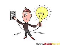Elektrizität Clipart, Bild, Illustration