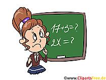 Gleichungen lösen Mathe Unterricht Clipart, Bild, Illustration