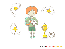 Illustration Fussball in der Schule