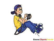 スマートフォンイラスト、イメージ、グラフィック、クリップアート無料の少年