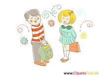 Kennenlernen in der Schule Bilder, Illustrationen für Unterricht