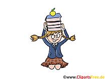Kostenloses Bild Schülerin mit Büchern in der Schule
