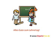 Lehrer Tag Clipart, Bild, Karte, Glueckwuensche