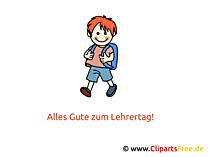 Lehrertag Clipart, Bild, Karte, Glueckwuensche