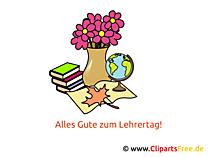 Lehrertag Deutschland Clipart, Bild, Karte, Glueckwuensche
