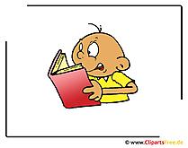 Lesen Clipart-Bild kostenlos