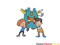Schüler in der Schule Bild, Cartoon, Clipart