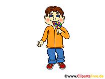 Schüler, Junge, Kind - Schule Cliparts, Bilder, Illustrationen