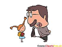 学校と幼稚園の校長クリップアート画像