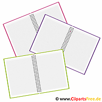学校のクリップアート - 授業のためのコピーブック