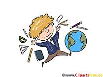 Schulische Bildung, Schulbilder, Schule Cliparts