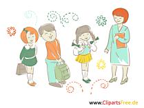 Schulklasse - kostenlose Bilder, Illustrationen, Cliparts