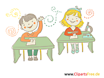 Sich melden in der Schule Bild, Illustration, Comic