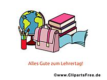 Tag der Lehre Clipart, Bild, Karte, Glueckwuensche