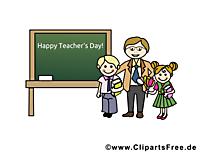 Tag der Lehrer Clipart, Bild, Karte, Glueckwuensche