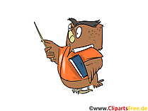 Eagle-uil als leraar Cartoon, Comic, Clipart, Graphics free