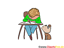 Skoleundervisning clipart, billede, illustration, grafisk