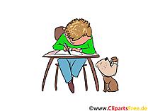 Unterricht in der Schule Clipart, Bild, Illustration, Grafik