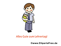 Welt Lehrer Tag Clipart, Bild, Karte, Glueckwuensche
