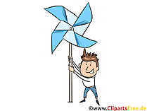 Pinwheel-clipart, billede, illustration
