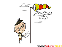 Windsock clipart, foto, illustratie