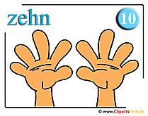 数学のための10本の指クリップアート