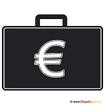 Clip Art Briefcase mit Geld