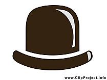 Derby Bowler Hut Clipart