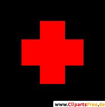 Erste Hilfe, Rotes Kreuz im Kreis Clip Art-Bild