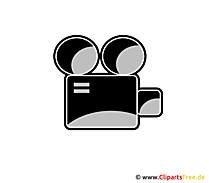 映画カメラのアイコン