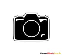 写真カメラクリップアート画像