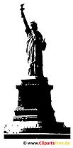 自由の女神のクリップアート
