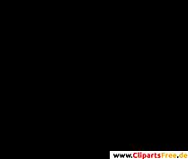 Fussabdrücke Clipart, Bild, Grafik, Silhouette schwarz-weiss