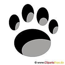 犬の足のクリップアート