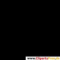 Marssymbol Clipart, Bild, Grafik schwarz-weiss