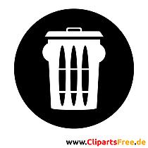 Mülleimer Piktogramm, Bild, Grafik, Clipart