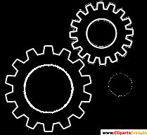 Prozesse Clipart, Bild, Grafik, Illustration schwarz-weiss