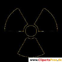 放射線シンボルクリップアート無料の高解像度
