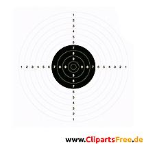 Schießscheibe, Zielscheibe Vorlage zum Drucken