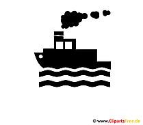 船のシルエット