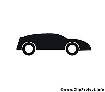 スポーツカーのピクトグラム