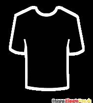 Tシャツのクリップアート